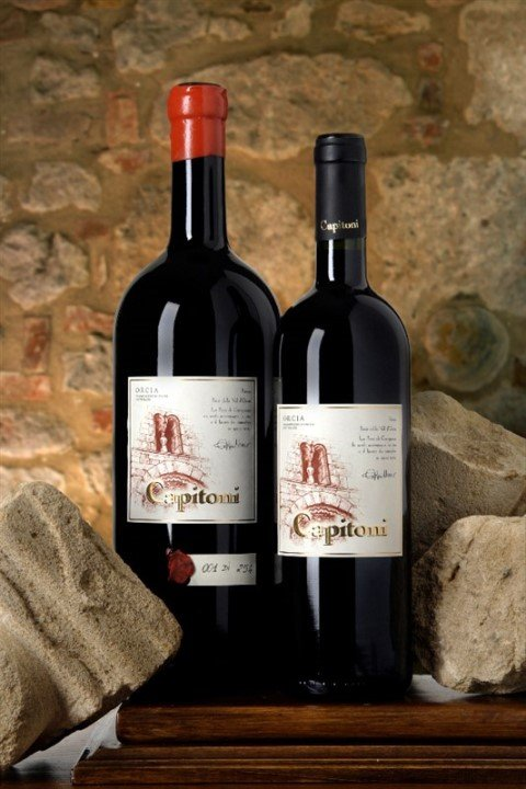 Two bottles of wine Capitoni