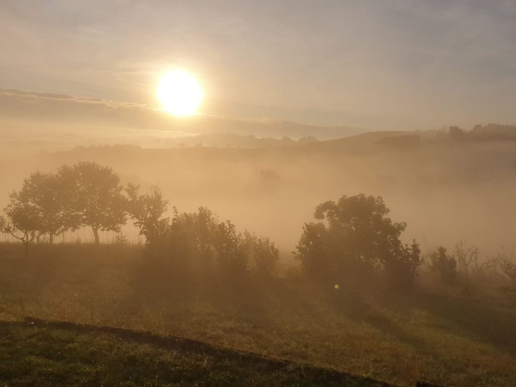 the autumn mists in Strevi